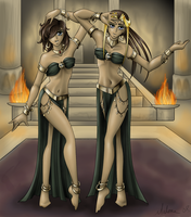 Belly Dancers by RyouGirl
