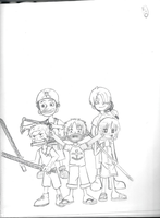 Luffy and His Gang kids by KCO1