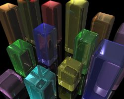Glass_Cubes1 by Rogervd