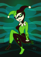Shego as Harley by enigmawing