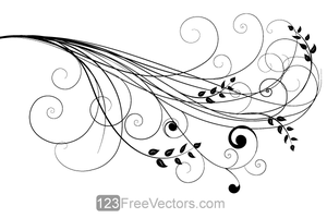 Vector Floral Design 6 by 123freevectors