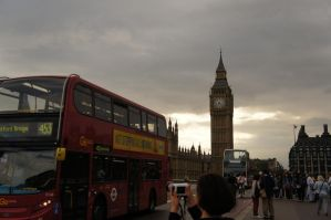 Big Ben and Bus by Power-Barbie
