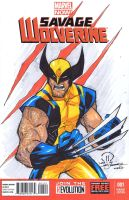 Savage wolverine C2E2 sketch by JoeyVazquez