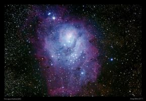 The Lagoon Nebula M8 by CapturingTheNight