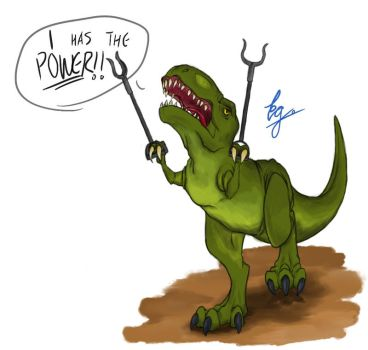 Empowered T-Rex by EGGSMILY