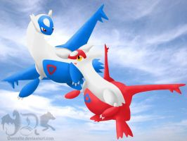 Latios and Latias by Deexalis