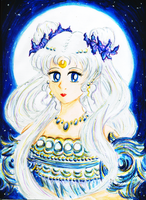 Sailor Moon - Princess Serenity Portrait by SaloGuardione