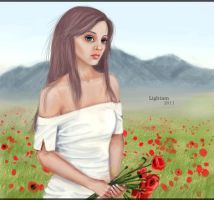 Flowers will not replace grief by Lightam