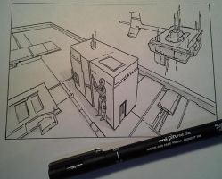 3-Point Perspective practice with Mark Crilley! by delPuertoSisters
