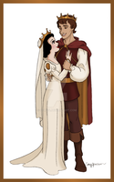 Snow White and Ferdinand by Cor104
