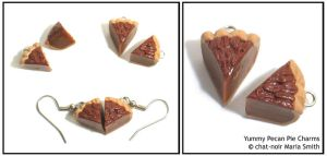 Yummy Pecan Pie Charms by chat-noir