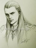 Legolas Sketch by TixieLix