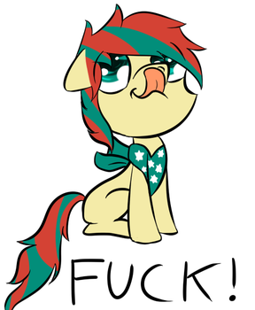 American pony says f*ck and licks nose. by razyart