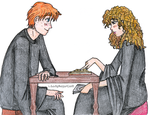 Ron and Hermione - Study Time by ladysugarquill