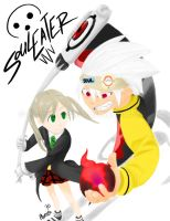 Soul Eater and Maka Albarn by MiyomotheCat