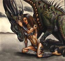 Julie and the Dragon by sarcovenator