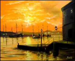 Sunrise at Plymouth by sabb-art