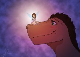 Tinkerbell and the Puckosaurus by vandals92
