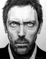 Hugh Laurie by JaneyArt