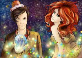 Christmas and New Year's drawing on the Doctor Who by Pihguinolog