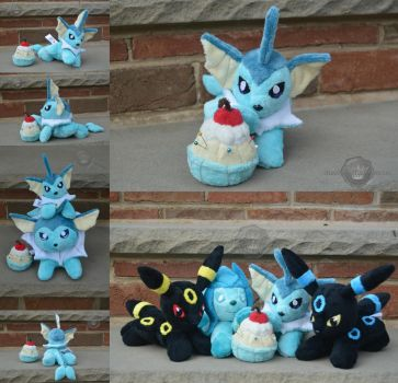 Vaporeon and his squad by PlushPrincess
