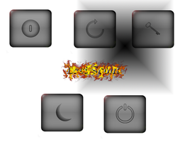 Simple black Powerbuttons by LastScout