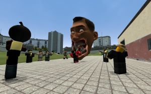 Giant Scout Head Attack! by Landgamer99