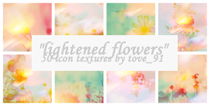 50 light flowers icon textures by Tove91