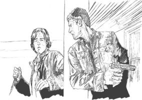 Sam and Dean Reach a Corner by semie