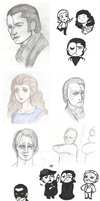 Phantom of the Opera Sketch Dump by DanaNicole96