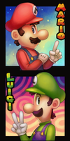 Mario Bros by Cortoony