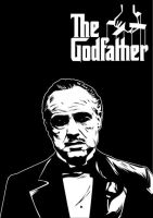 The Godfather 01 BW version by astayoga