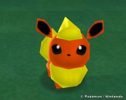 Flareon from My Pokemon Farm by Psunna