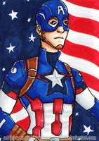 Captain America [Day 1] by wondering-souls
