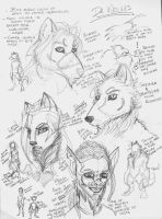 Mostly Wolf Heads by Sinister-Scribe