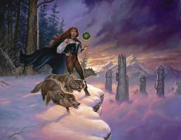 woman rule and wolfs by wird-lulu