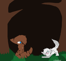 Hawkfrost and Ivypool by Lillytehcat