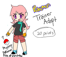 Pokemon Trainer Adopt [FREE MYSTERY POKEMON INCLUD by GalaxyCookie