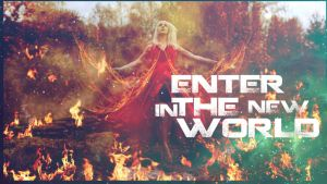 Girl On Fire-wallpaper-1366x768 by LuizChaves