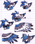 New Gryphon character planning by Zahzumafoo