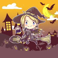 Witch Mercy's TRICK OR TREAT ! by karrarin