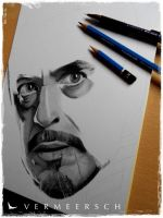 Tony Stark - Robert Downey Jr. - Iron Man 3 WIP by Martin--Art