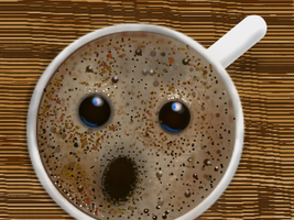 Surprised Coffee by MacAodhagain