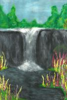 Forests waterfall by brittanyandalvin