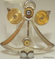 Angel Brooch with Watch Parts by randomasusual