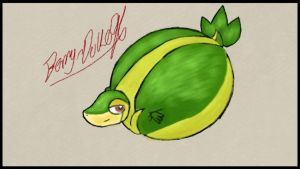 Snivy Inflated by berry-duke96