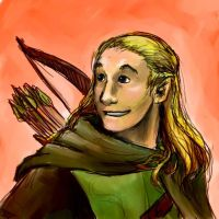 Legolas Smiling by jameson9101322