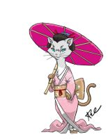Memoirs of a Geisha... Cat by ArtistAbe