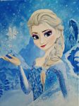 Elsa oil painting by NadineSabbagh