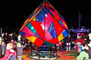 Vivid festival of the lights glowing cube by Ariel1707